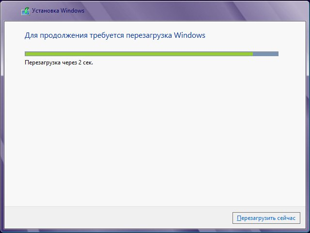 Windows 8 1 и процесс установки начнётся