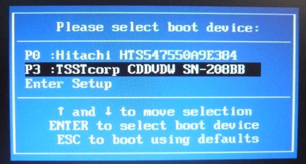 Загрузка ноутбука samsung с диска