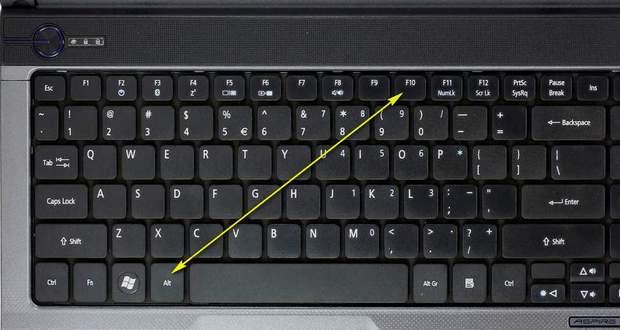 восстановить биос ноутбука: