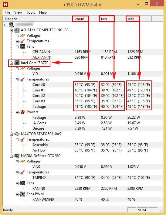Everest как узнать температуру процессора