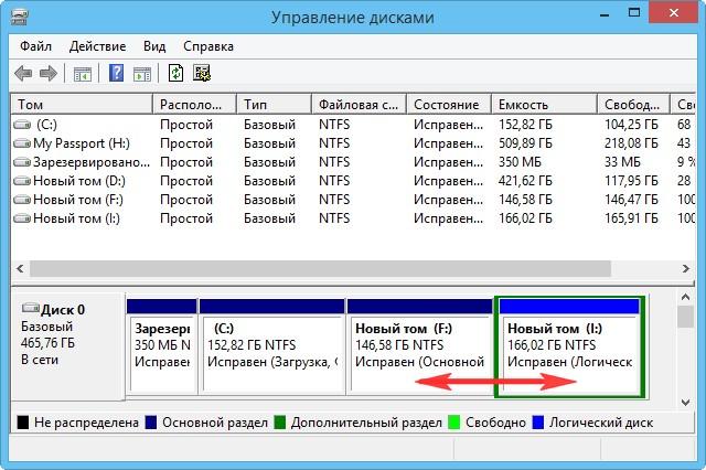 Как объединить разделы жесткого диска windows 7 без потери информации