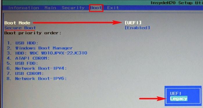 Как отключить Secure Boot на ноутбуке Acer Aspire  Как убрать пароль