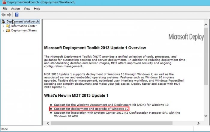 Установка Windows 10 используя Microsoft Deployment Toolkit 2013 Update 1