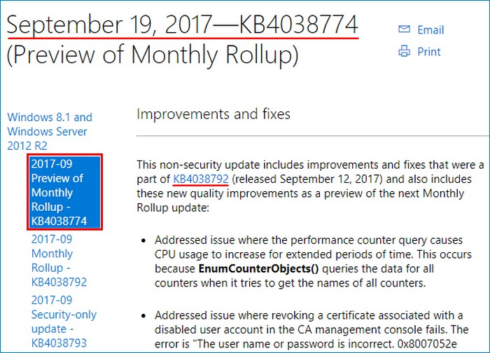 Server 2012 R2 Monthly Rollup