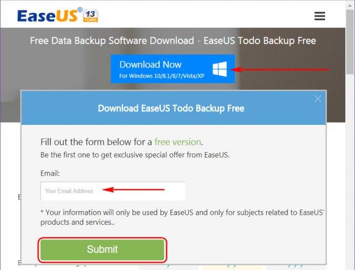 Резервное копирование и восстановление Windows программой EaseUS Todo Backup