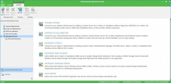 Резервное копирование Windows 7, 8, 8.1,10 используя Veeam Backup & Replication 9.5 и Veeam Agent for Microsoft Windows. Часть 1. Установка Veeam Backup & Replication 9.5, создание и конфигурирование репозитория для хранения резервных копий