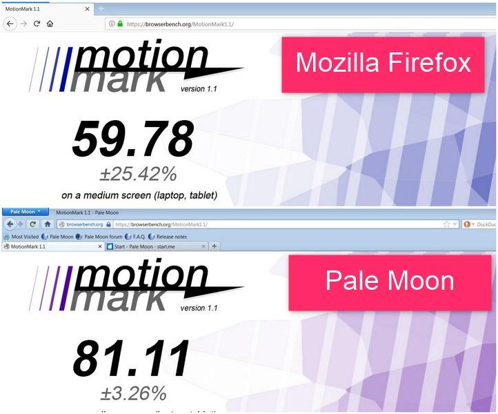 firefox quantum vs pale moon