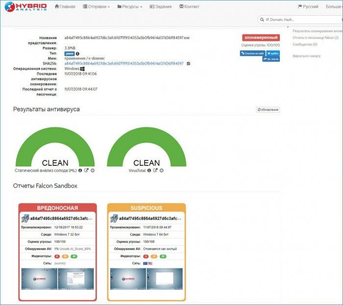 Hybrid Analysis — больше, чем просто сервис проверки файлов на вредоносность