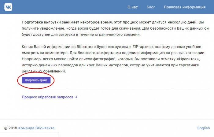 Как узнать, какие сведения о своих пользователях хранит социальная сеть ВКонтакте