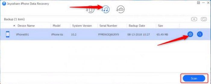 Восстановление данных iPhone, iPad, iPod в среде Windows программой Joyoshare Data Recovery