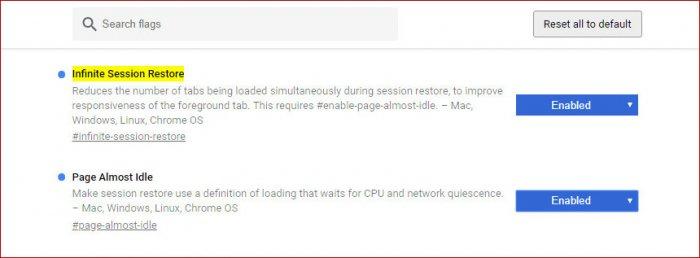 Как оптимизировать запуск Chrome с большим количеством сохраненных в предыдущей сессии вкладок