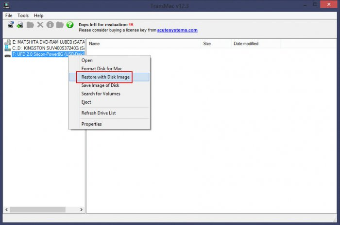 Как создать загрузочную флешку Mac OS в Windows