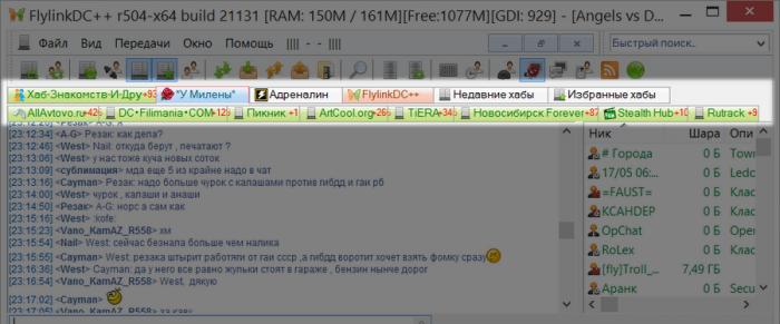 Файлообменная сеть P2P и клиенты DC++